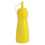 Vogue GF252 Lidded Sauce Bottle, Plastic, 340 mL, Yellow