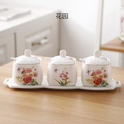 Spice storage containers,Small spice jars Square spice jars Spice jars bulk Ceramic spice jars with lid and spoon-K