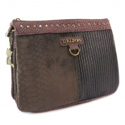 "Crossbody bag 'Lollipops'brown (3 compartments)- 26x20x7 cm (10.24""x7.87""x2.76"")."