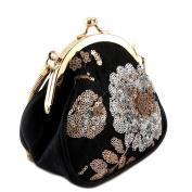 """Purse bag vintage 'Lollipops'black gold - 15x13.5x7.5 cm (5.91""""x5.31""""x2.95"""")."""
