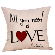 YanHoo Christmas Dog Linen Cushion Cover Throw Pillow Case Sofa Bed Home Decor