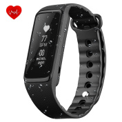 Fitness Tracker Heart Rate Monitor, Weloop 3ATM(_IP68) 30M Swimming Waterproof 24-Hour Auto Activity Tracker Bracelet, Walking/Running Pedometer, Sleep Monitor for iPhone/iOS/Android Smartphones-Black