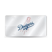 Los Angeles Dodgers Silver Laser Licence Plate