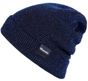 Wantdo Unisex Soft Rib Knit Cap Double Layer Breathable Slouch Beanie Hat
