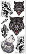 Grashine new design temporary tattoo stickers Ferocious wolfs waterproof and non toxic fake temp tattoo sticker