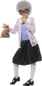 Smiffy's 41514M David Walliams Deluxe Gangster Granny Costume, Purple/Black, Medium, UK 7-9