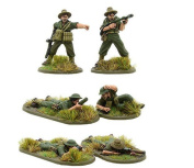 Warlord Games, Australian flamethrower, light mortar and sniper teams (Pacific), Bolt Action Wargaming Miniatures