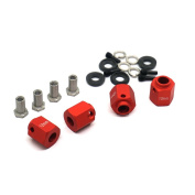 4PCS 12mm Thick 12mm Hex Wheel Hubs RED For 1:10 RC Traxxas TRX-4