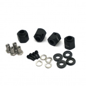 4PCS 11mm Thick 12mm Hex Wheel Hubs black For 1:10 RC Traxxas TRX-4