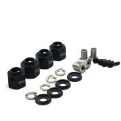 4PCS 10mm Thick 12mm Hex Wheel Hubs black For 1:10 RC Traxxas TRX-4
