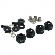 4PCS 8mm Thick 12mm Hex Wheel Hubs black For 1:10 RC Traxxas TRX-4