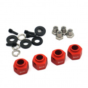 4PCS 8mm Thick 12mm Hex Wheel Hubs RED For 1:10 RC Traxxas TRX-4