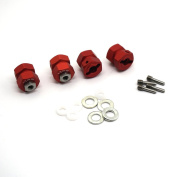 4PCS 13mm Thick 12mm Lock Hex Wheel Hubs For 1:10 RC Crawler Wraith 90048 RR10 Matte Red