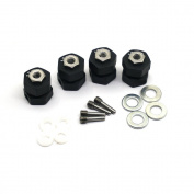 4PCS 13mm Thick 12mm Lock Hex Wheel Hubs For 1:10 RC Crawler Wraith 90048 RR10 Matte Black