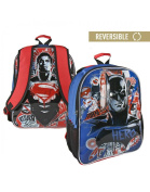 Backpack child Batman and Superman reversible with two illustrations - Home and More