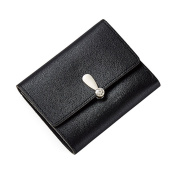LUOEM Women Short Wallet Purse Mini Clutch Triple Folded Handbags for Cards Coins Cash Holding Gift Bags