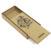 'Abstract Feet' Wooden Pencil Case / Slide Top Box