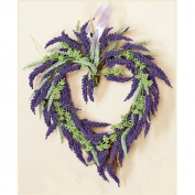 Worth Imports Flowers on Twig Heart Wreath