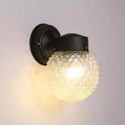 GAOLILI Bedroom Bedside Lamp Modern Minimalist Staircase Bathroom Mirror Front Lamp Creative Glass Ball Small Wall Lamp E27