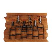 DELLT- Vintage Old Bar Decorative Red Wine Frame Wooden Wine Rack
