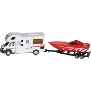Prime Products 27-0027 Class C RV Camper Trailer Hitch and Speed Boat Toy Model