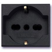 45390/15Ts – unel Socket Bypass 2P + T 10/16 A Noir