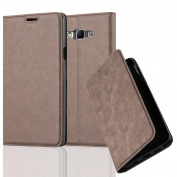Cadorabo - Book Style Wallet with Stand Function for _ Samsung Galaxy A7 (5) - Model 2015 _ with Card Slot and invisible Magnetic Closure - Etui Case Cover Protection in COFFEE-BROWN