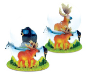 Wild Life Decor Black Bear and Moose Snowglobes