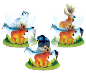 Wild Life Decor Black Bear, Wolf and Moose Snowglobes