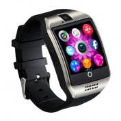 CHEREEKI Smartwatch [Curved Screen & Soft Strap] Bluetooth Smart Watch with Touch Screen, Supports SIM / TF Card, Remote Camera, Pedometer, Message Push, Alarm, Sleep Monitor, Anti-lost, Photograph, MP3, SMS, WhatsApp, Facebook, Twitter and etc, for An ..