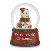 THE SAN FRANCISCO MUSIC BOX COMPANY Freakin' Christmas Kitty 100mm Water Globe