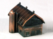 Barn with Silo Die Cast Metal Collectible Pencil Sharpener