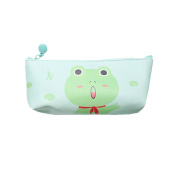 Cute Kids Zipper Pouch Faux Leather Animal Cartoon Pencil Bag Student Gift