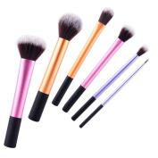 Prochive Makeup Brushes Eyeliner Powder Contour Foundation Buffing Concealer Brush Make Up Kit Makeup Blending Brushes Tools Set of 6