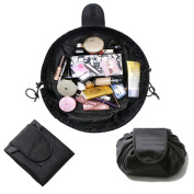 LIGE Multifunction Cosmetic Bags Makeup Bag Travel Barrel Cases Kit Lazy Makeup Toiletry Bag Multifunction Storage Portable Quick Pack Waterproof Cosmetic Pouch