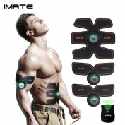IMATE EMS Remote Control Training Pads, Arms, Hips, Thighs, and Abdominal Muscle Toner EMS Body Muscle Toning Belt Muscle Trainer Fitness Apparatus Unisex Support for Men & Women
