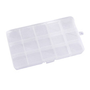 Baokee Multiple slots Storage Container Box Case for Nail Art Tips Rhinestone Gems