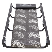 Gas Monkey Garage Mechanic Creeper with Headrest - Vinyl Cushion and 6 Rolling Casters - 160kg Capacity