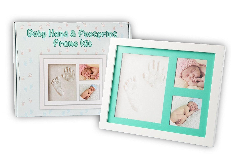 LENBEST Updated Baby Handprint /& Footprint Photo Frame Kit for ...