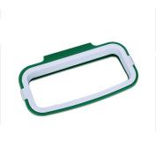 Kicode Garbage Bag Holder Hanging Trash For Kitchen Cupboard Green & White