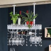 LIXIONG suspension Wine rack Multifunction Shelves Cup holder Bottles Holder iron crystal Display Shelves , 3 colours