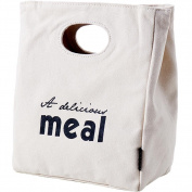 Handmade Canvas Material Lunch Box Storage Bag,Portable Waterproof Lunch Handbag , a