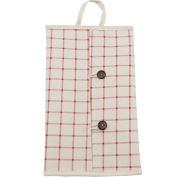 Handmade Cotton Linen Tissue Napkin Box Cover New Year Home Decoration , red lattices