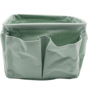 Cotton and Linen Desktop Storage Basket , green