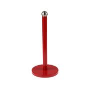 Royal Cuisine Kitchen Freestanding Red Metal Tissue Paper Roll Towel Pole Holder