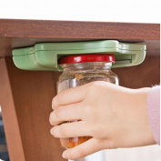 DIKEWANG Jar Opener Under Kitchen Cabinet Counter Top Lid Remover Arthritis,Help To Remove Any Twist-Top Lid From Jars,Cans, and Bottles With Ease