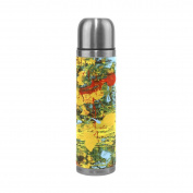 BENIGIRY Abstract Art Painting Pattern Print 500ml Double Walled Vacuum Insulated Stainless Steel Water Bottle Vacuum Flask Travel Mug Thermos Coffee Cup