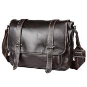 Berchirly Retro Leather Tote Bag Women Shoulder Sling Bag Satchel Chocolate Black