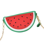 LUOEM Girl Crossbody Bag Watermelon Bag Women Fruit Packet with Gold Chain Shoulder Bag Summer Party Supplies