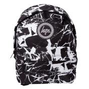 HYPE Marble Black/White Backpack Rucksack Bag - Ideal School Bags - Rucksack For Boys and Girls